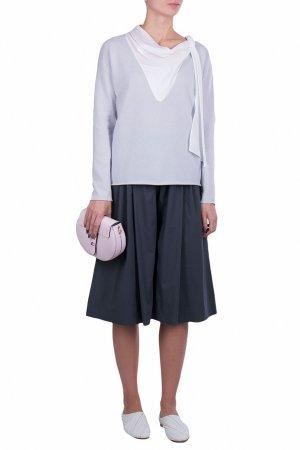 Лиловый трикотажный пуловер Fabiana Filippi