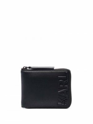 Кошелек K/Karl на молнии Karl Lagerfeld. Цвет: черный