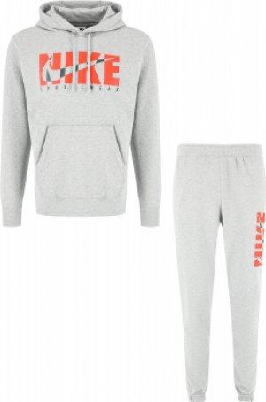 Костюм мужской Sportswear, размер 46-48 Nike. Цвет: серый