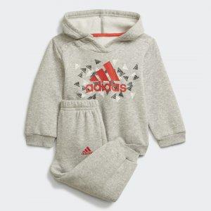 Спортивный костюм Badge of Sport Graphic Sportswear adidas. Цвет: красный