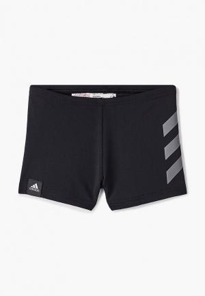 Плавки adidas YB PRO BOXER. Цвет: черный