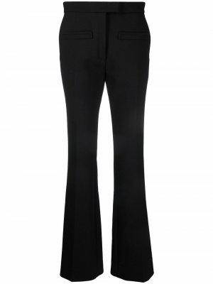 Расклешенные брюки средней посадки Courrèges. Цвет: черный