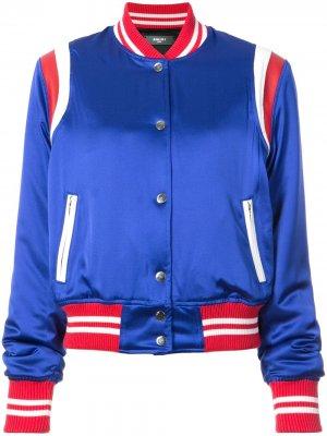 Куртка-бомбер с полосками AMIRI. Цвет: синий