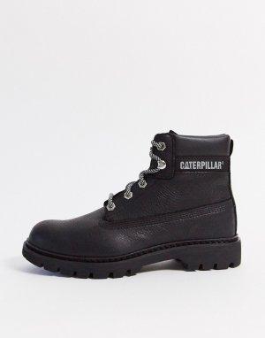 Черные кожаные походные ботинки CAT-Черный Cat Footwear