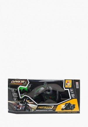 Игрушка радиоуправляемая 1Toy Драйв, мотоцикл с гонщиком. Цвет: зеленый
