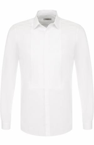 Хлопковая сорочка под смокинг Valentino. Цвет: белый