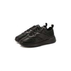 Кожаные кроссовки Tod's. Цвет: чёрный