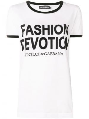 Футболка с принтом Dolce & Gabbana. Цвет: белый
