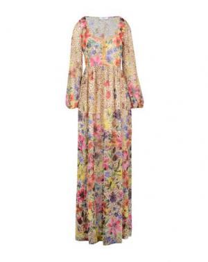Длинное платье BLUGIRL BLUMARINE. Цвет: бежевый