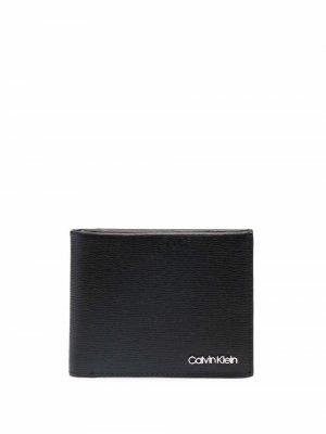 Складной кошелек Calvin Klein. Цвет: черный
