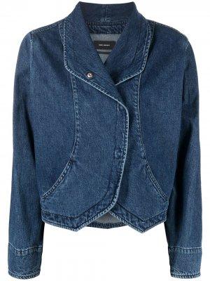 Джинсовая куртка с запахом Isabel Marant. Цвет: синий