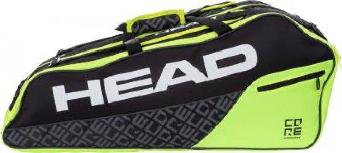 Сумка для 6 ракеток CORE 6R Combi Head. Цвет: черный