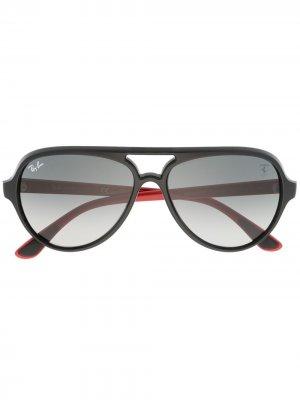Солнцезащитные очки-авиаторы Ferrari Ray-Ban. Цвет: черный