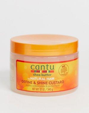 Кастард для волос с маслом ши для структурирования прядей и придания блеска Cantu - 340 г-Бесцветный