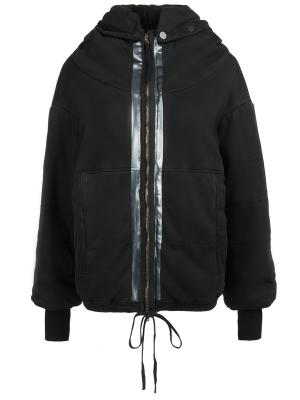 Хлопковая куртка ROQUE. Цвет: черный