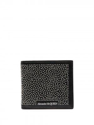 Декорированный кошелек Alexander McQueen. Цвет: черный