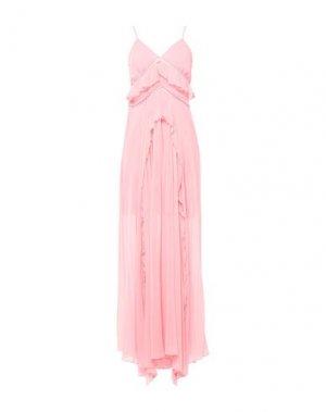 Длинное платье KI6? WHO ARE YOU?. Цвет: светло-розовый