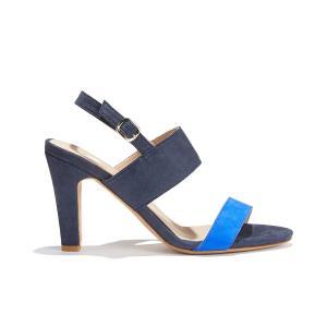 Босоножки двухцветные на высоком каблуке LA CAPRICIEUSE BOBBIES. Цвет: синий морской