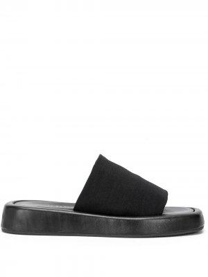 Сандалии на платформе с квадратным носком Loeffler Randall. Цвет: черный