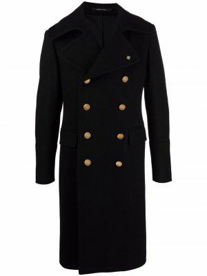 Double-breasted tailored coat Tagliatore. Цвет: черный
