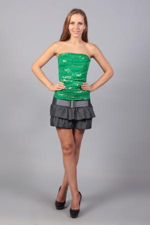 Платье Fashion Dress. Цвет: зеленый