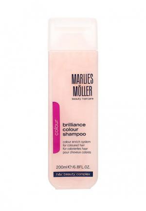 Шампунь Marlies Moller Brilliance Colour для окрашенных волос 200 мл. Цвет: белый