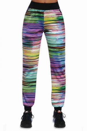 Спортивные брюки BAS BLEU. Цвет: green, yellow, violet