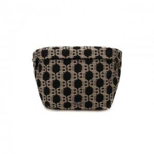 Текстильная поясная сумка Balmain. Цвет: чёрный