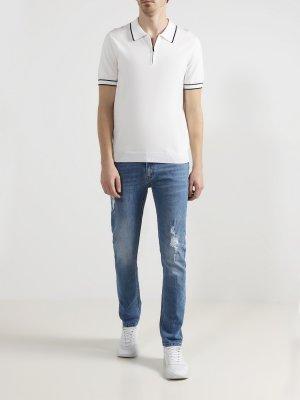 Рваные джинсы 6 P.M.. Цвет: goluboy
