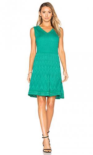 Мини платье без рукавов M Missoni. Цвет: синий