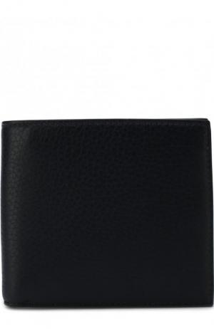 Кожаное портмоне с отделением для кредитных карт и монет Smythson. Цвет: темно-синий