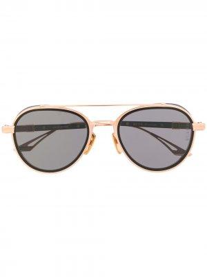 Солнцезащитные очки со сменными дужками Dita Eyewear. Цвет: черный