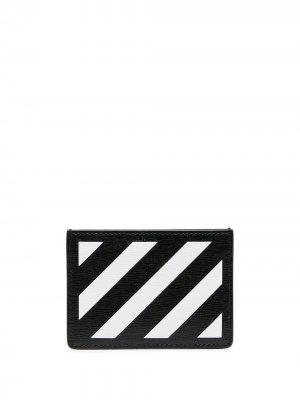 Картхолдер Diag Off-White. Цвет: черный