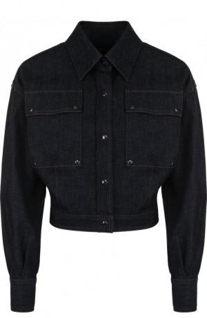 Укороченная джинсовая куртка с отложным воротником Tom Ford. Цвет: темно-синий