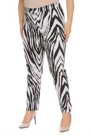 Брюки Amazone. Цвет: зебра