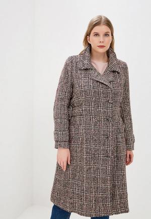 Пальто Lost Ink Plus CHECK COAT WITH BUCKLES. Цвет: разноцветный