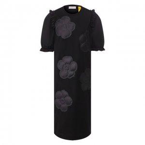 Платье 4 Moncler Simone Rocha Genius. Цвет: чёрный