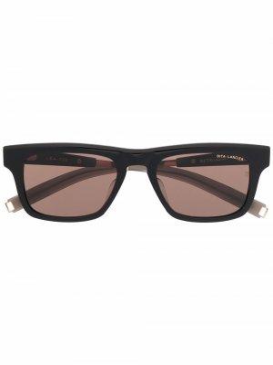 Солнцезащитные очки Wasserman в прямоугольной оправе Dita Eyewear. Цвет: черный