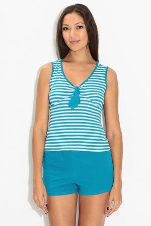 Трикотажный костюм EVA Teks. Цвет: голубой