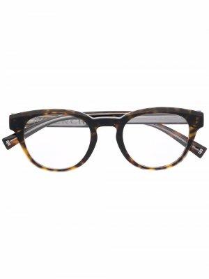 Очки в круглой оправе черепаховой расцветки Givenchy Eyewear. Цвет: коричневый