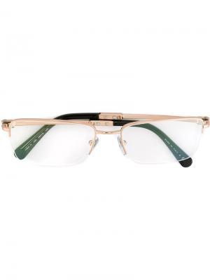 Оптические очки в прямоугольной оправе Bulgari. Цвет: чёрный