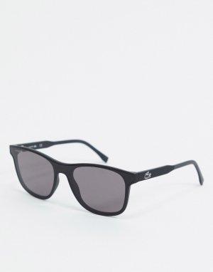 Черные солнцезащитные очки в квадратной оправе Sport Inspired-Черный Lacoste