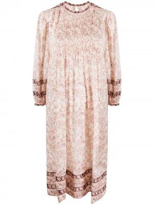 Платье-туника с цветочным принтом Isabel Marant Étoile. Цвет: нейтральные цвета
