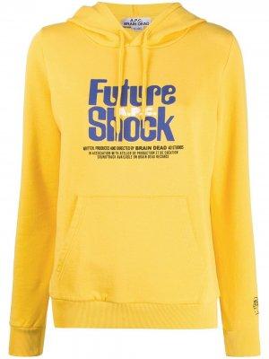 Худи с принтом Future Shock A.P.C.. Цвет: желтый