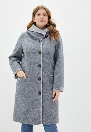 Пальто Elegant Life. Цвет: серый