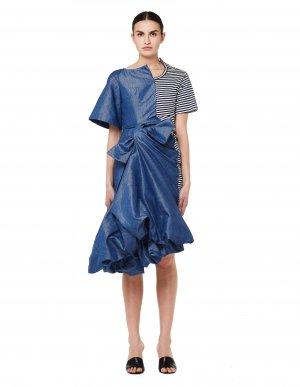 Платье с джинсовой драпировкой Junya Watanabe