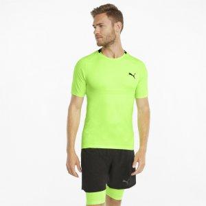 Футболка EVOKNIT+ Short Sleeve Mens Training Tee PUMA. Цвет: зеленый