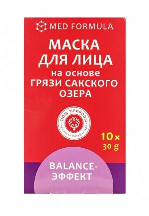 Набор масок для лица Мануфактура Дом Природы Balance-эффект  на основе грязи Сакского озера (для нормальной и комбинированной кожи)