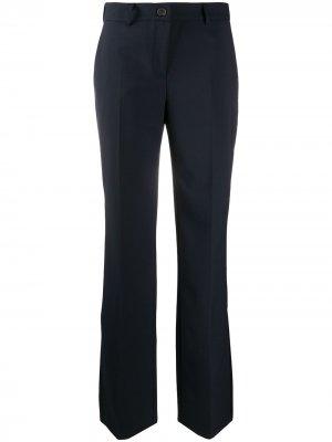 Расклешенные брюки строгого кроя Semicouture. Цвет: синий