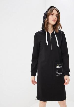 Платье Bezko. Цвет: черный